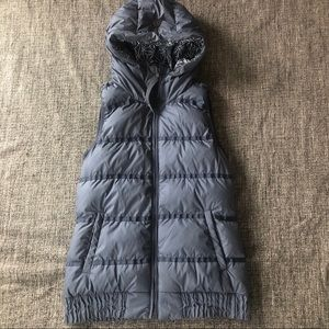 lululemon Down reversible vest size 4 in navy